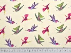RESTSTÜCK 83 cm Jersey Kolibris Little D. beige
