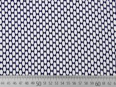 Viskose grafisches Muster, dunkelblau weiß