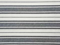 RESTSTÜCK 87 cm Baumwollstoff Streifen in schwarz-weiss