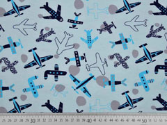 Jersey Flugzeuge, hellblau dunkelblau
