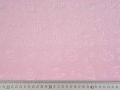Wellness Fleece geprägte Elefanten rosa