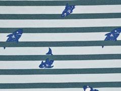Sweat Haie Streifen, mint jadegrün