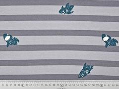 Sweat Haie Streifen, grau dunkelgrau