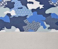 Softshell Camouflage Gitter, blau