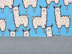 Softshell Stoff Jackenstoff Lamas, blau