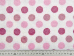 Wellnessfleece Punkte, rosa weiß