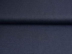 Punto di Roma Jersey kleingemustert Punkte Striche, anthrazit dunkelblau