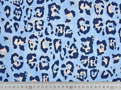 Jersey Leopardenmuster, hellblau