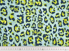 Jersey Leopardenmuster, mintgrün