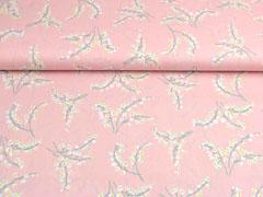 Baumwollstoff Maiglöckchen, rosa