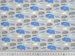 Jersey Flusspferde, blau hellgrau