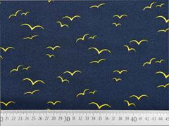 Jersey Vögel am Himmel, gelb dunkelblau