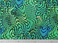 Badeanzugstoff Funktionsjersey wilde Linien, neongrün schwarz