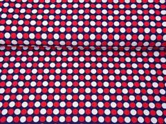 Badeanzugstoff Funktionsjersey Punke, rot weiß dunkelblau