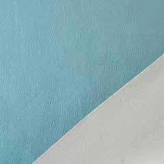 Lederimitat geprägte Optik, eisblau metallic