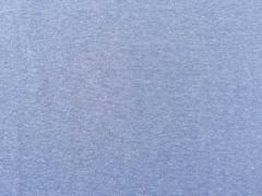 glattes Bündchen - jeansblau meliert