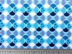 Baumwollstoff grafisches Retromuster, hellblau