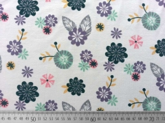 Jersey Blumen Little Darling, hellgrau