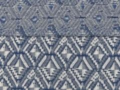 Jersey Jacquard Rauten blau/ grau