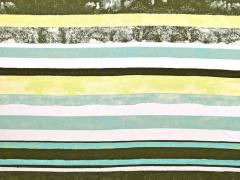 Viskose Jersey gemalte Streifen, khaki mint