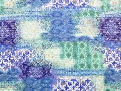 Plissee mit goldfarbigem Glitzer, blau