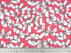 RESTSTÜCK 200 cm Milliblus Easy Chic Voile Schleifen, coralle