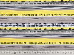 Jersey gemusterte Streifen, gelb/taupe
