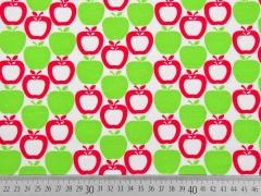 Jersey Äpfel Little Darling, limette / weiß