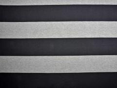 Jersey Blockstreifen, schwarz grau