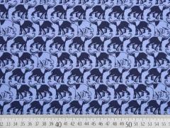 Bio-Jersey Elefanten, dunkelblau/jeansblau