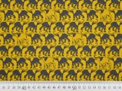 Bio-Jersey Elefanten, grau/ocker