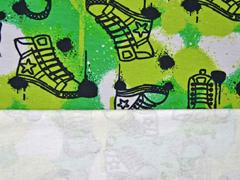 angerauter Sweat Turnschuhe Sneaker, grün