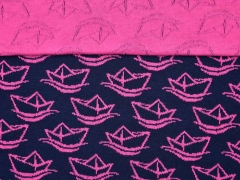 HH Liebe Simply Boats Jacquard. pink  navy