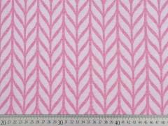 Bio-Jacquard Hamburger Liebe Maxi Knit, weiß rosa melange