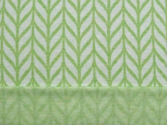Bio-Jacquard Hamburger Liebe Maxi Knit, weiß lindgrün
