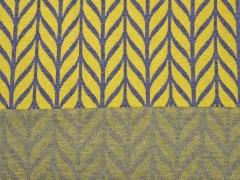 Bio-Jacquard Hamburger Liebe Maxi Knit, senf dunkelgrau
