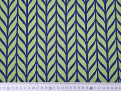 Bio-Jacquard Hamburger Liebe Maxi Knit, grün