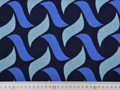 Bio-Jacquard Hamburger Liebe grafisches Muster, blau navy