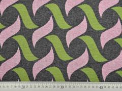 Bio-Jacquard Hamburger Liebe grafisches Muster, rosa anthrazit