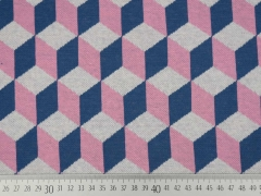 HH Liebe Hipster Square DICE, jeansblau/rosa