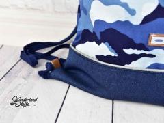 Canvas Camouflage Colors, blau