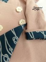 RESTSTÜCK 68 cm Jersey Taue und Knoten, jadegrün