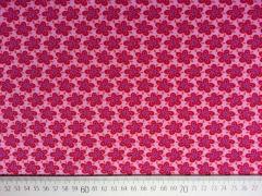 Baumwollstoff Blumen Hamburger Liebe, rosa
