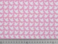 Jersey Friedenstauben Lycklig Design, weiß rosa