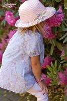 Baumwolle Batist Zweige Blüten (Kombi Little Geisha), hellblau