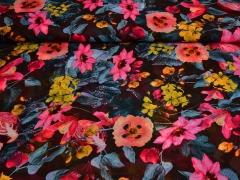 Chiffon Blumen, dunkelbraun pink