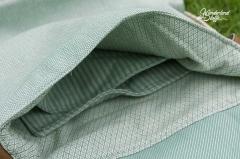 Dekostoff diagonale Streifen Doubleface, mint
