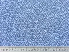 RESTSTÜCK 86 cm Viskose Rauten Muster - blau/grau