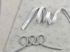 Paspelband uni, silber metallic