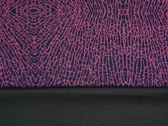 Leichter Punto di Roma grafisches Muster Animalprint, dunkelblau bordeaux